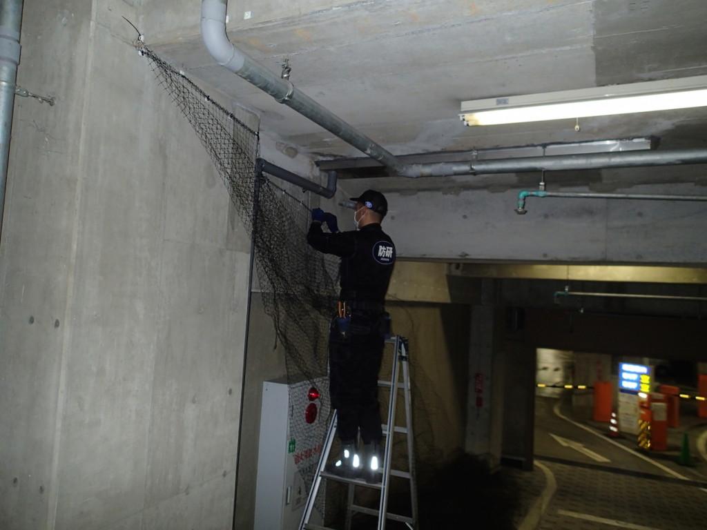 地下駐車場 ネット施工16