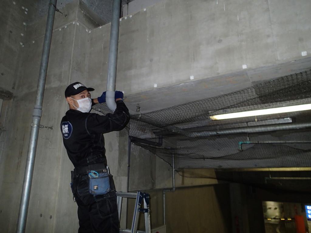 地下駐車場 ネット施工19