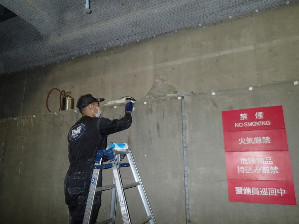地下駐車場 ネット施工22