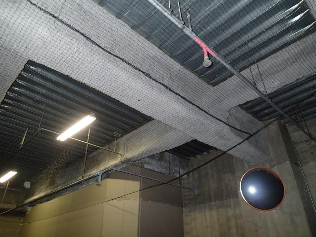 地下駐車場 ネット施工28